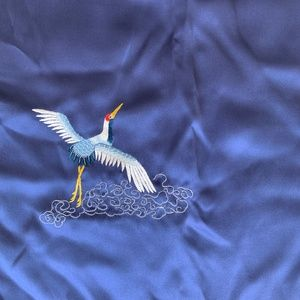 Chinese Silk Scarf (Royal Blue)